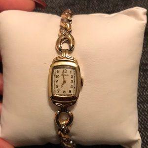 Antique Gold Stretch Watch